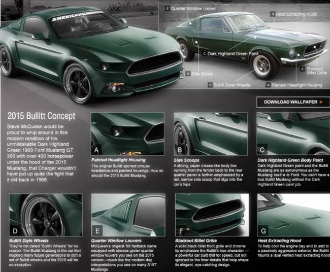 2018 Ford Mustang Bullitt Fords Redesign