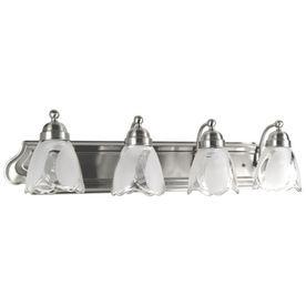 Portfolio 4 Light Vanity Satin Nickel Bathroom Vanity Light 6900