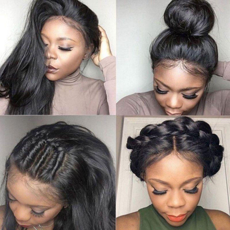 1.99AUD - Fashion Women 100% Brazilian Baby Hair Extensions Lace Front Human  Hair Wigs  ebay  Fashion 445c8eab1fd3