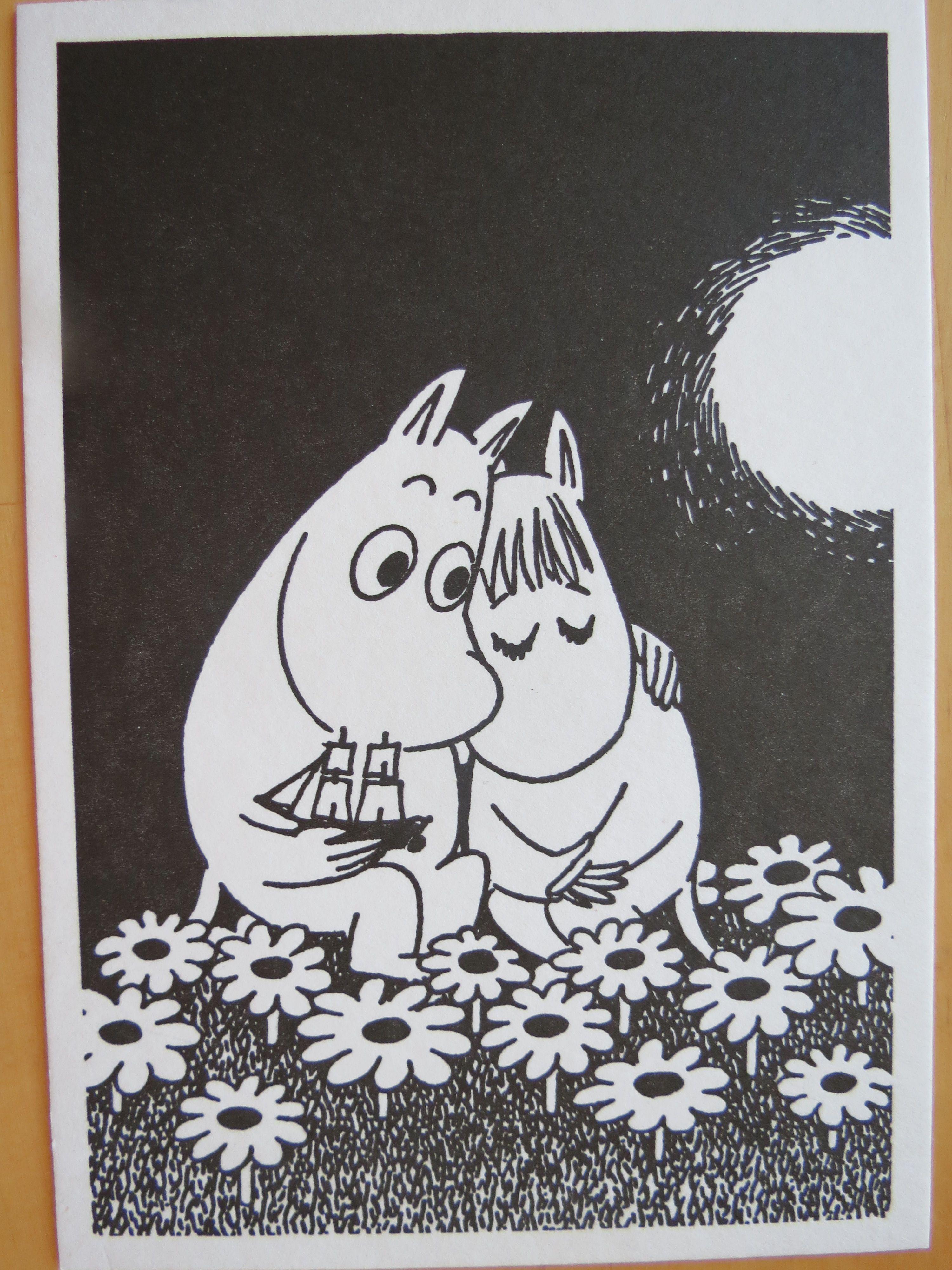 Tove Jansson - moomin black/white, letterpress