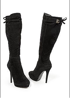 862cf2cee68e Black High Heel Stiletto Tie Back Boot. Women s Shoes - Wedge