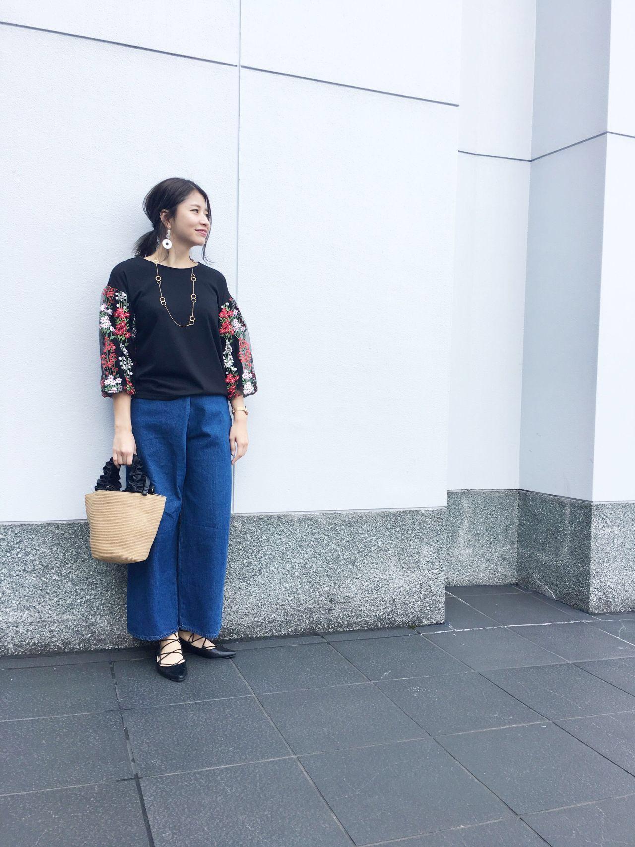 【京都店】☆袖刺繍がポイント☆完了