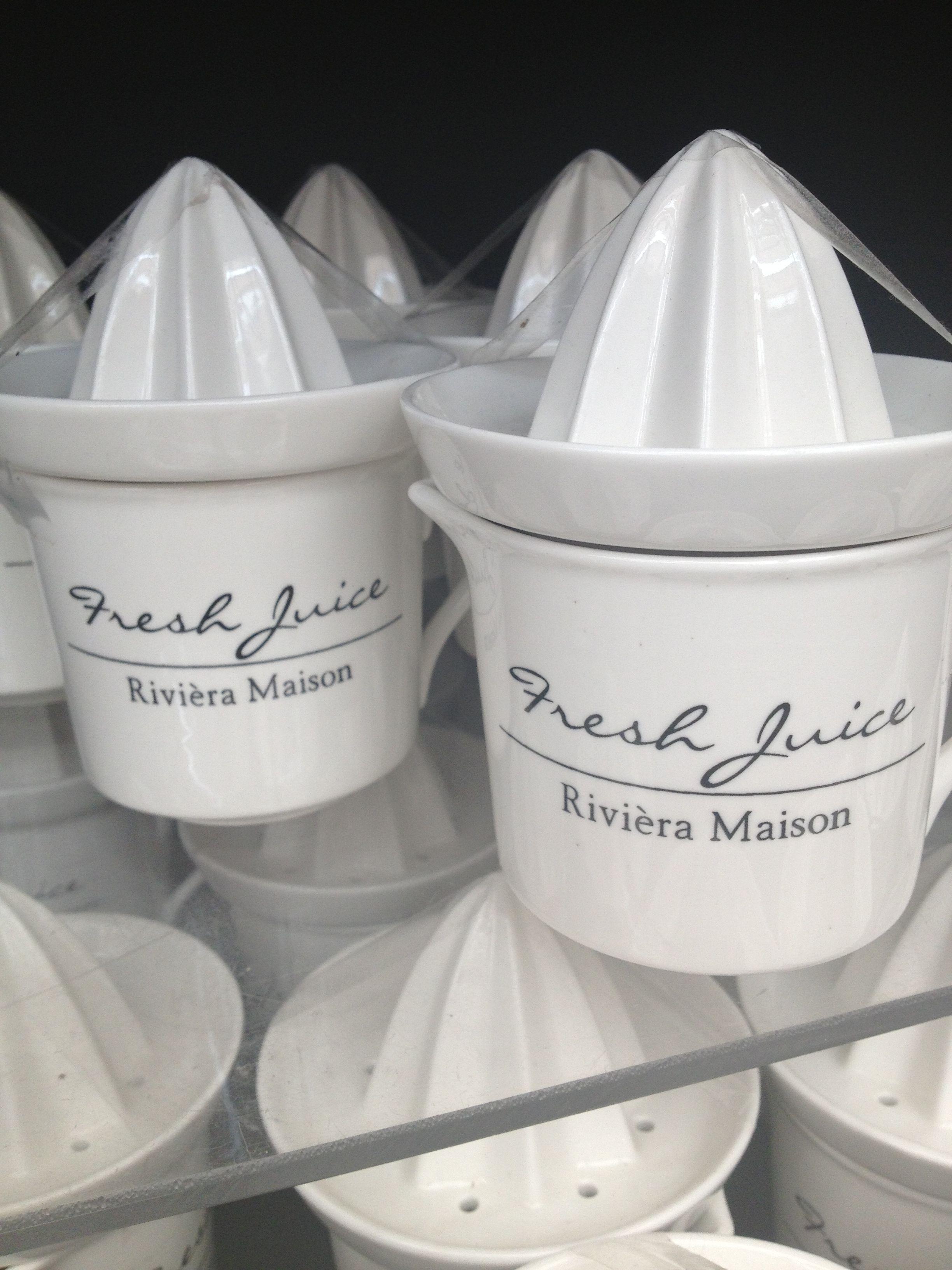 Porcelain cup & juicer @ Riviera Maison €8,95