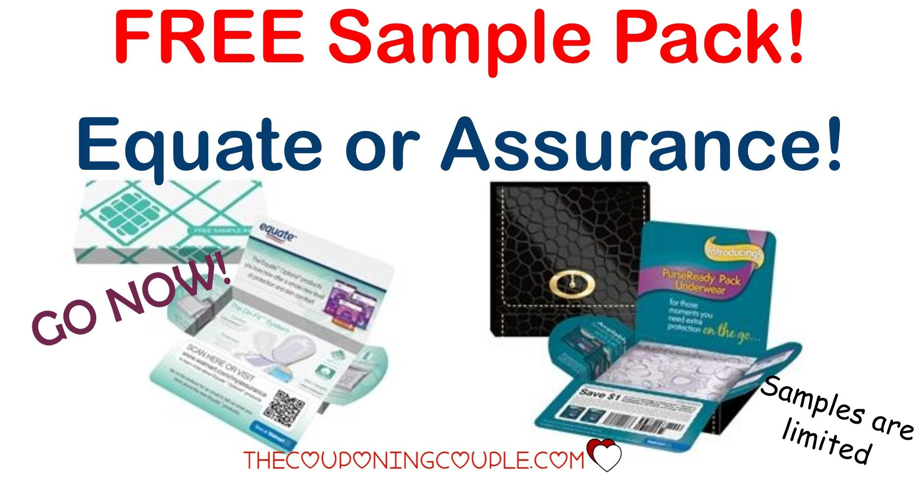 FREE SAMPLE!! GO NOW! Request a FREE Equate Feminine Products or Assurance Products Sample Pack! Supplies are limited so go NOW!  Click the link below to get all of the details ► http://www.thecouponingcouple.com/free-equate-feminine-products-sample-pack/ #Coupons #Couponing #CouponCommunity  Visit us at http://www.thecouponingcouple.com for more great posts!