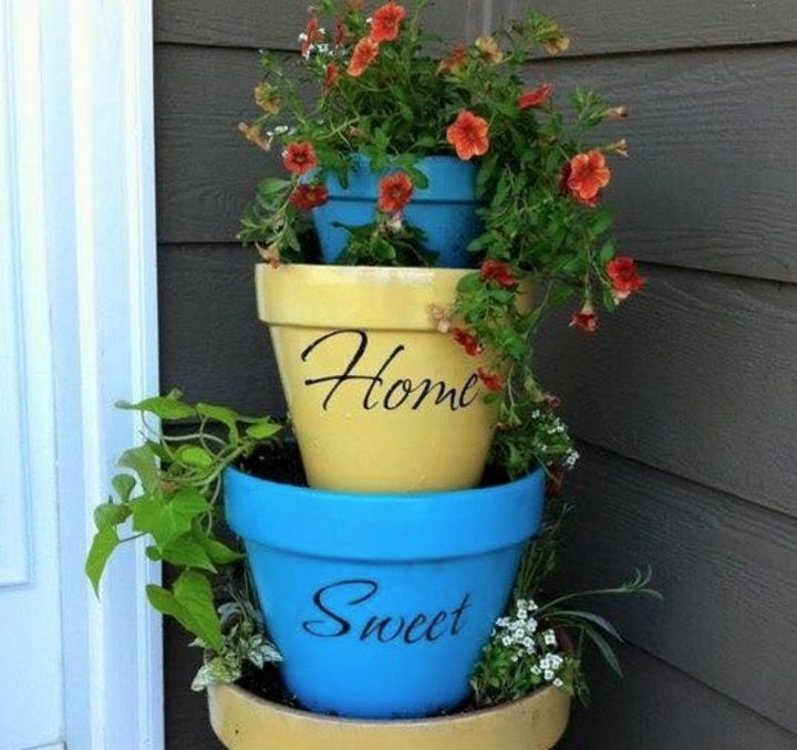 stacked flower pots instructions