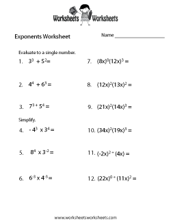 Exponents Worksheets Free Printable Worksheets For Teachers And Kids In 2020 Exponent Worksheets Math Worksheets Multiplication And Division Worksheets