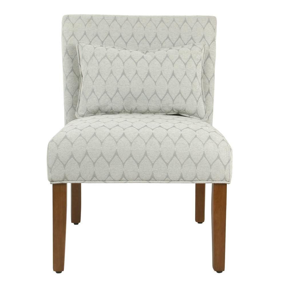 Can I Match An Accent Chair To My Throw Pillows: Homepop Parker Textured Gray Modern Geo Pattern With