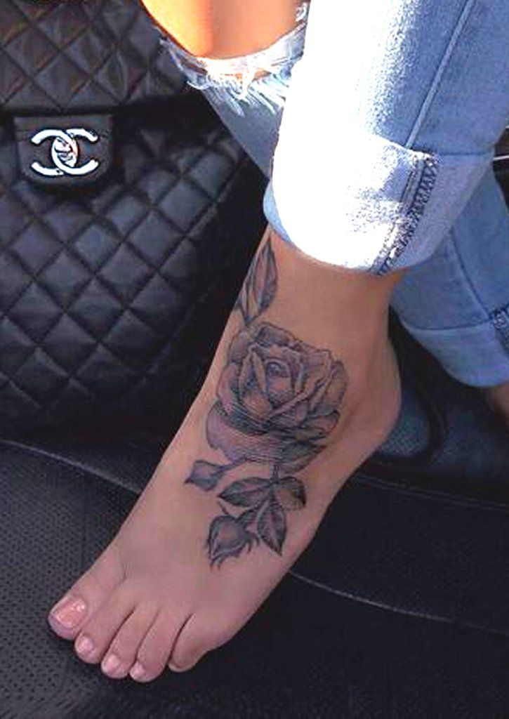 Meaningful Black Rose Foot Tattoo Ideas for Women – www.MyBodiArt.com