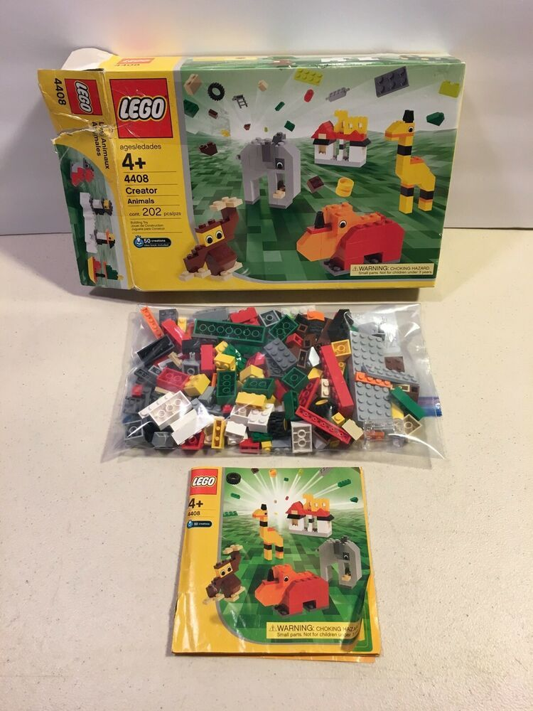 Lego Creator 4408 Zoo Animals 100% Complete Box Manual 2003 #afflink
