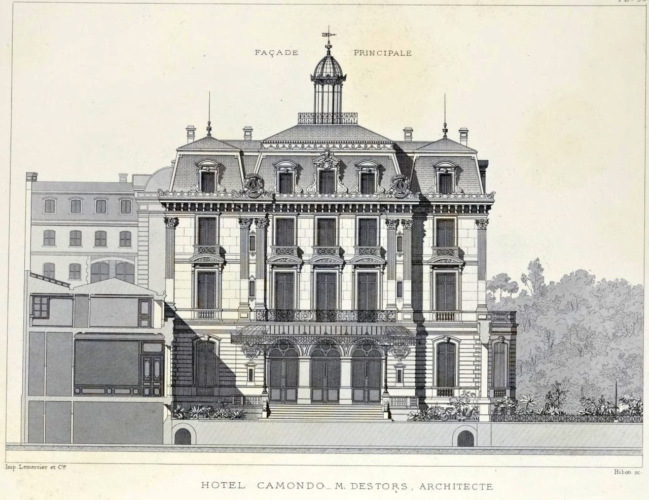 Fassade frontal textur  Frontal facade of the Hôtel Camondo, Paris | Architecture on paper ...