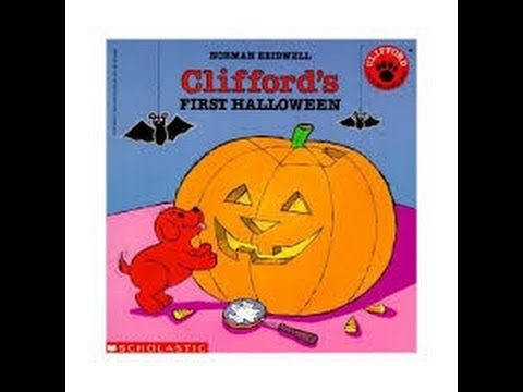 katie reading cliffords first halloween by norman bridwell published by scholastic