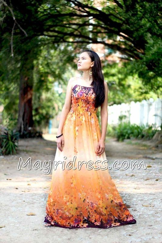 Dress Prom Maxi Dress Orange Dress Plus Size Dress Summer Sundress Beach