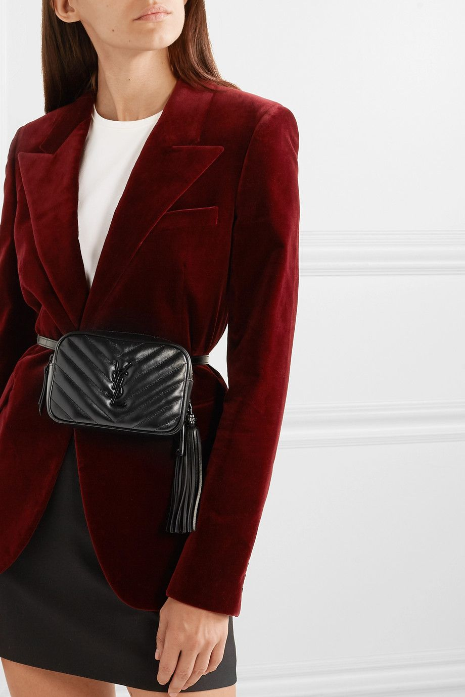 52637f5c7f8 SAINT LAURENT - Lou quilted leather belt bag in 2019 | Giveaway ...