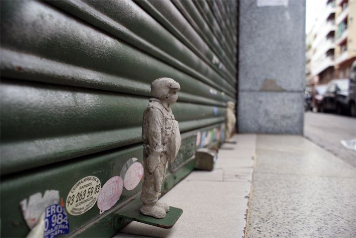 Cement Eclipses @ Barcelona  Isaac Cordal