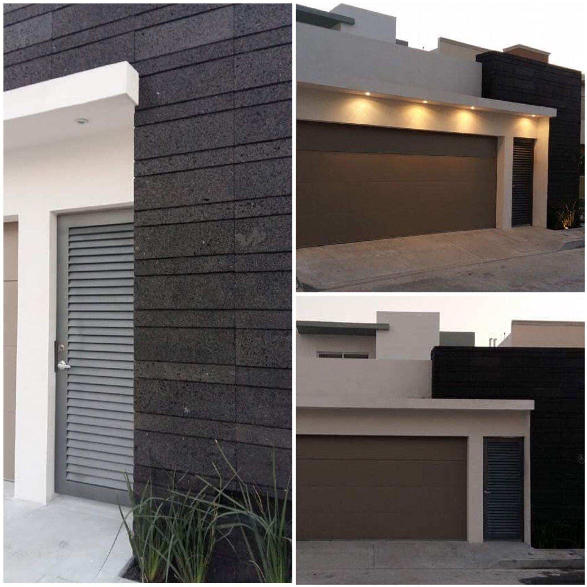 Fachada moderna con cantera de casa mexicana fachada for Fachada de casas modernas