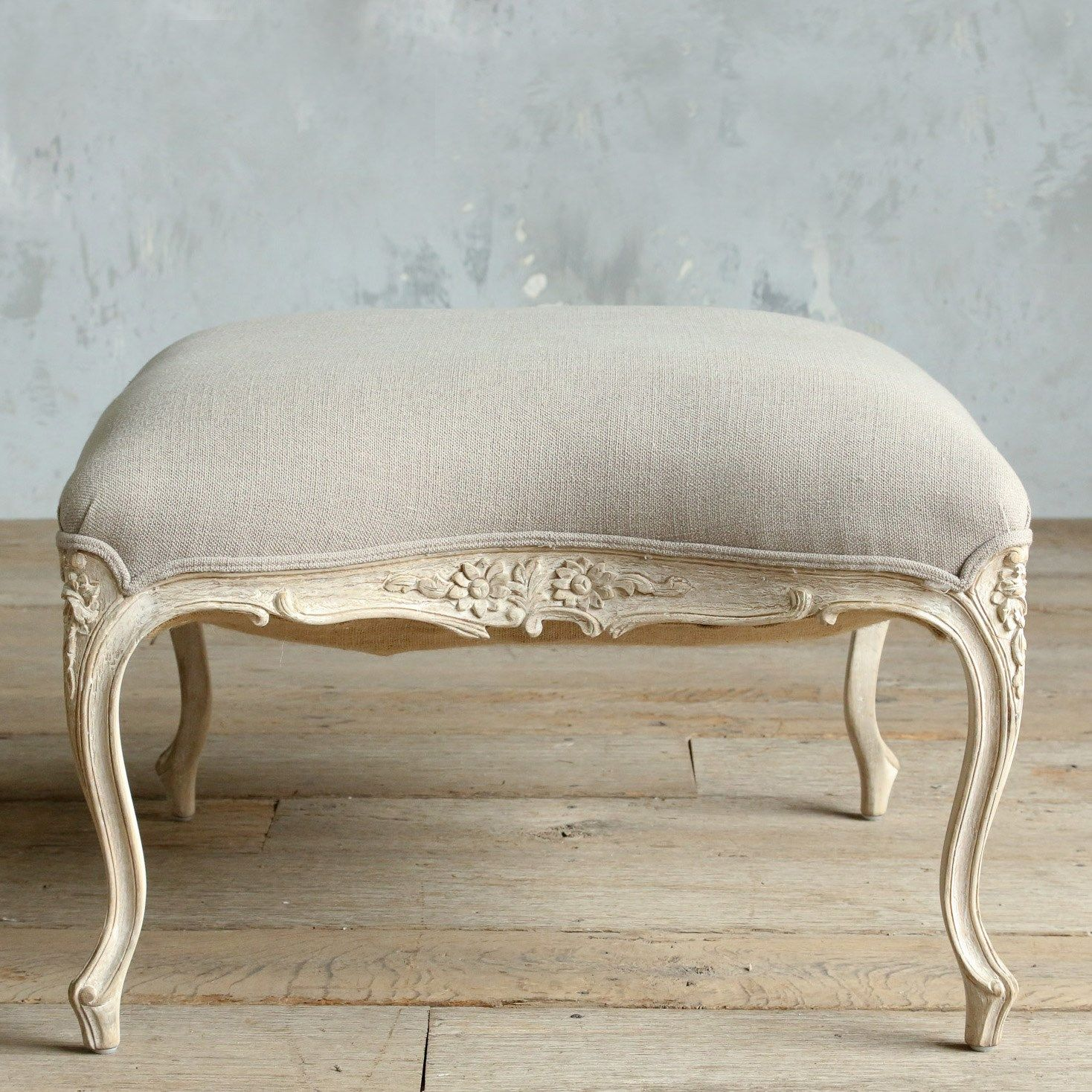 Eloquence Duchess White Ottoman. #laylagrayce #eloquence