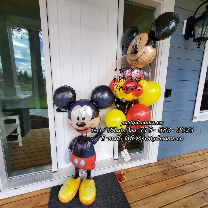 Mickey Mouse Balloon Bouquet Idea in 2020 Kids party