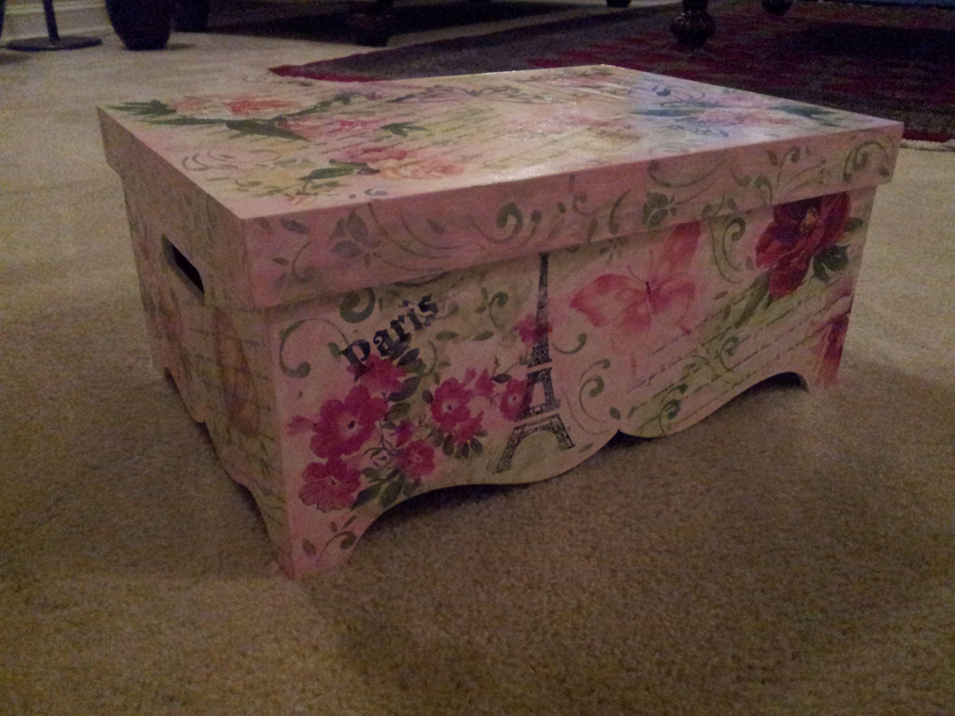 Caja para guardar recuerdos estilo shaby chic cajas - Cajas decorativas para almacenar ...