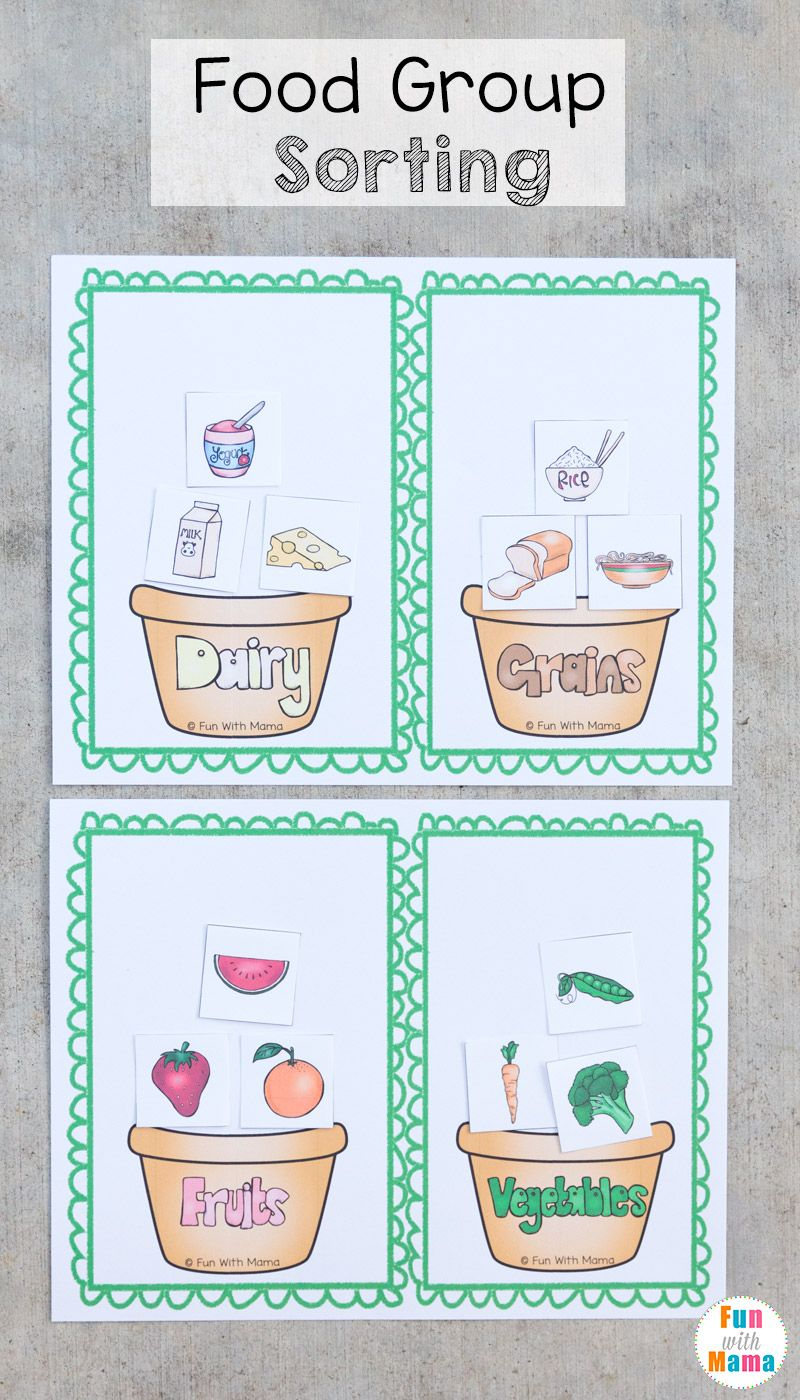 Food Groups Preschool Activity Pack | Food groups ...