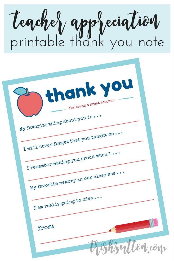 Teacher Appreciation Week Printable Thank You Note Teacher Appreciation Notes Teacher Appreciation Printables Teacher Appreciation Letter