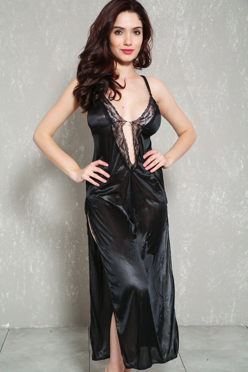 c00653fcaaf Buy Sexy Black Sleeveless Strappy Midi Intimates Dress with great price and  high quality Intimates Online Storewhich also sales Lingerie