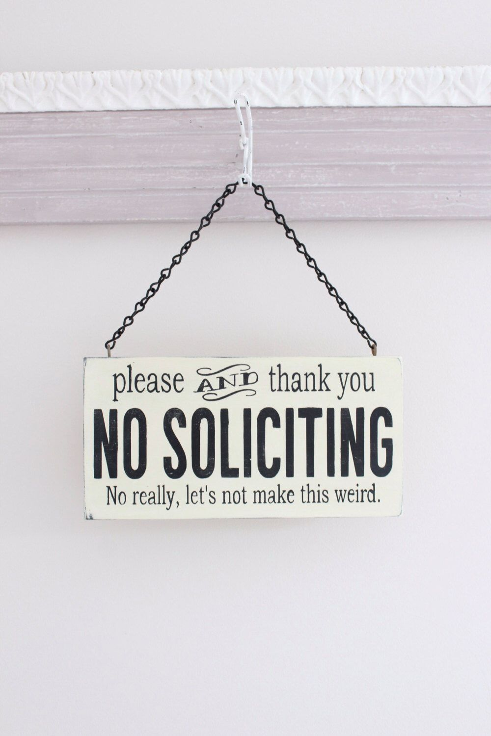 A personal favorite from my etsy shop - Funny soliciting signs ...