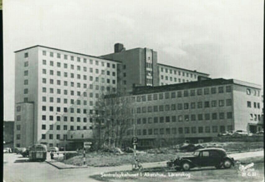Sentralsykehuset i Akershus Lørenskog kommune i Akershus fylke. SIA 1960-tallet Utg Harstad forlag