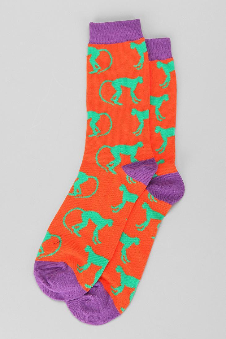 Monkey sock crazy socks silly socks