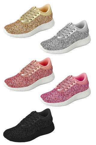 new styles 4dc63 f3c29 These glitter sneakers are stunning! Glitter is so in, we are just in love  with these! Goes with just about anything and dresses up any outfit or  dress!