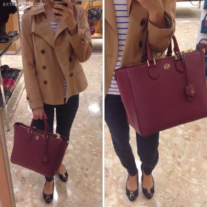 Tory Burch Robinson Leather Tote Bag Fashion Fashion