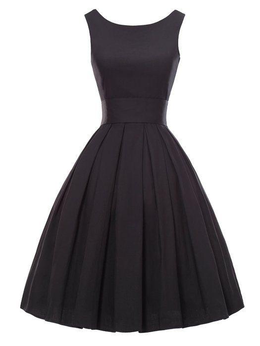 Luouse robes vintage 1950 39 s audrey hepburn robe de soir e cocktail bal style ann es 50 - Robes annees 50 ...