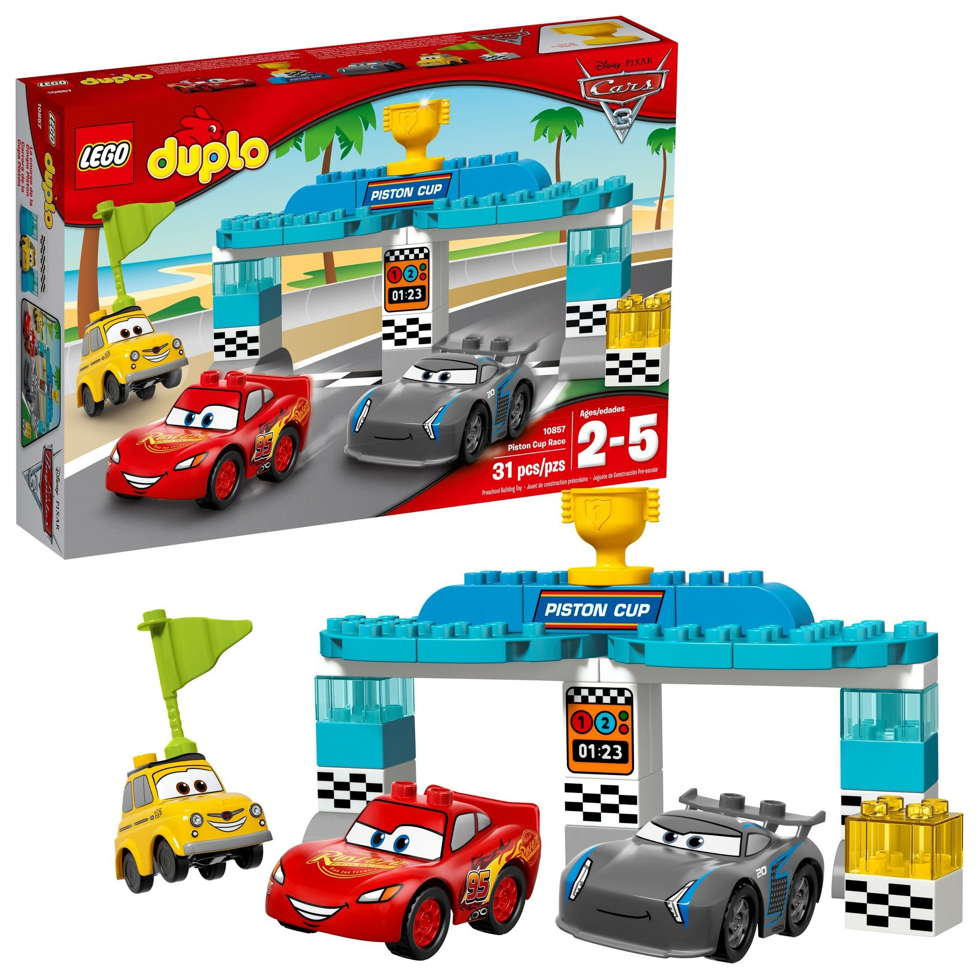 LEGO DUPLO Disney Pixar Cars 3 Piston Cup Race 10857