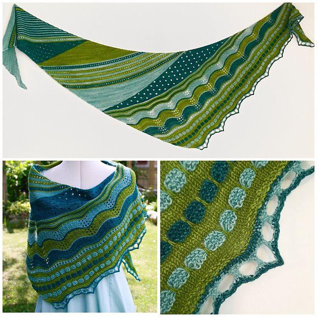 Evenly Uneven pattern by JennyPenny | Tücher, Stricken und Schals