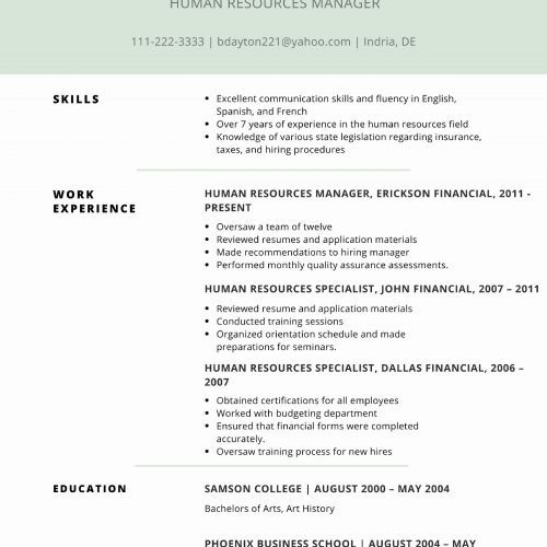 42 Unique Photos Of Sample Resume For Treasury Manager