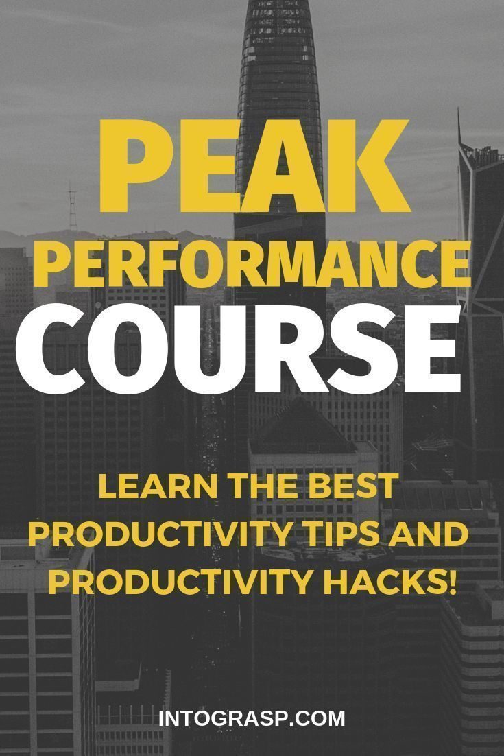 Peak Performance Strategies Course | Intograsp