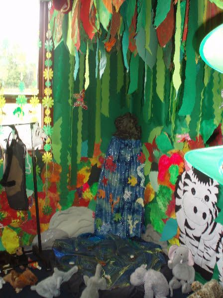 Classroom Rainforest Ideas : Rainforest role play area classroom display photo