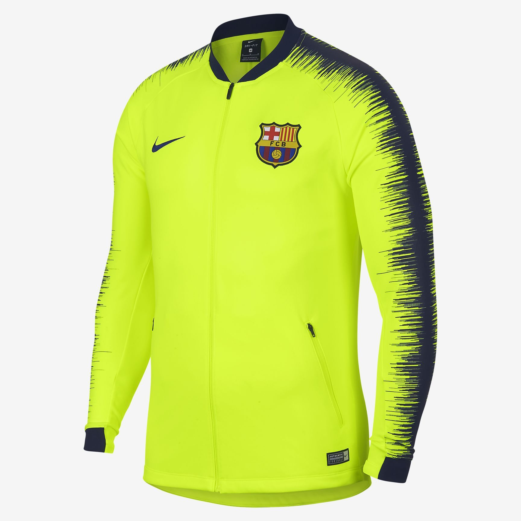 cde7e595aef NIKE FC BARCELONA ANTHEM JACKET 2018/19 Volt/Obsidian | Products ...