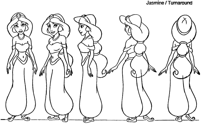 Disney Princess Character Design : Fan art of jasmine model sheet for fans disney princess