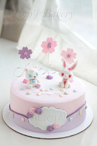 Cute Pastel Jeweled Girls Birthday Cake jewel pet Pinterest