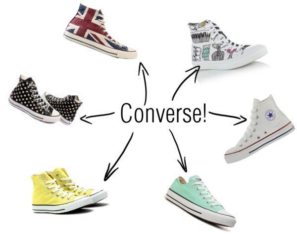 """Converse!"" by thejadejamboree on Polyvore"