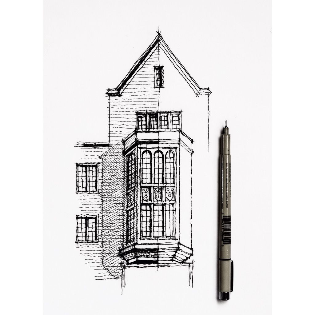 Architecture Sketch Drawings