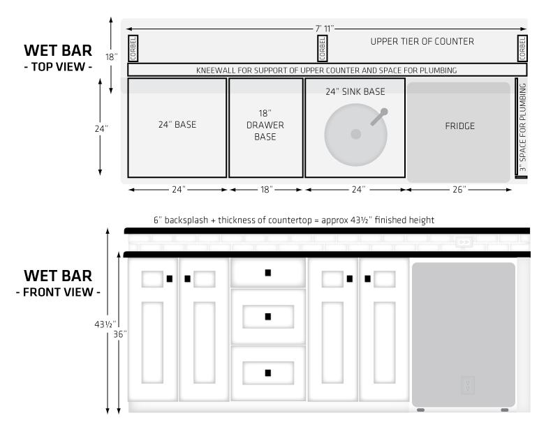 wet bars built in wet bar - Basement Wet Bar Design