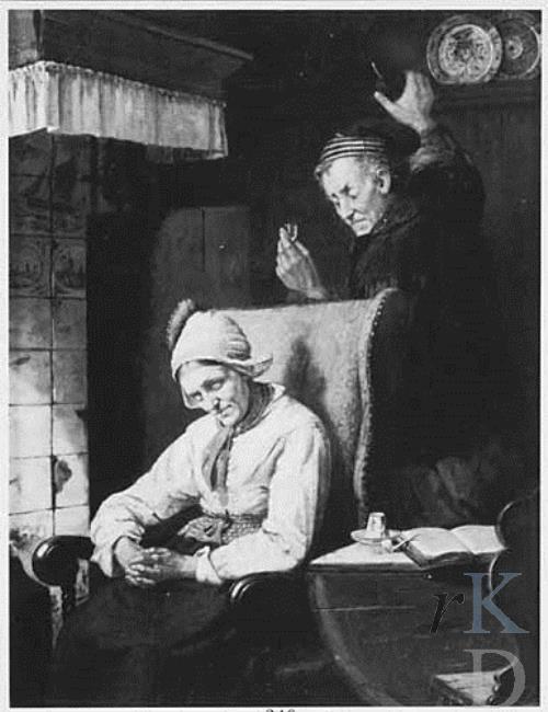 Karl Julius Lorck De stiekeme drinker 1870-1880 Sotheby's 1987-05-21, 340 #NoordHolland #Volendam
