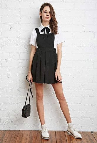 ecc104153ef Pleated Overall Dress
