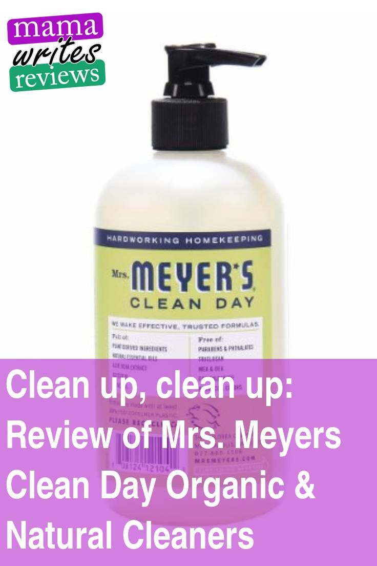 Review Of Mrs Meyers Clean Day Organic Amp Natural Cleaners