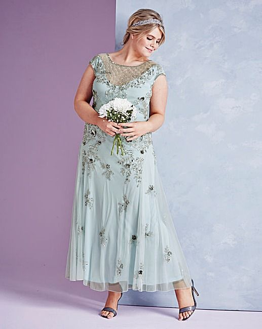 JOANNA HOPE Embellished Maxi Dress | Simply Be | WEDDING | Pinterest ...