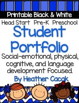 Student Portfolio Printable Template For Preschool Pre K