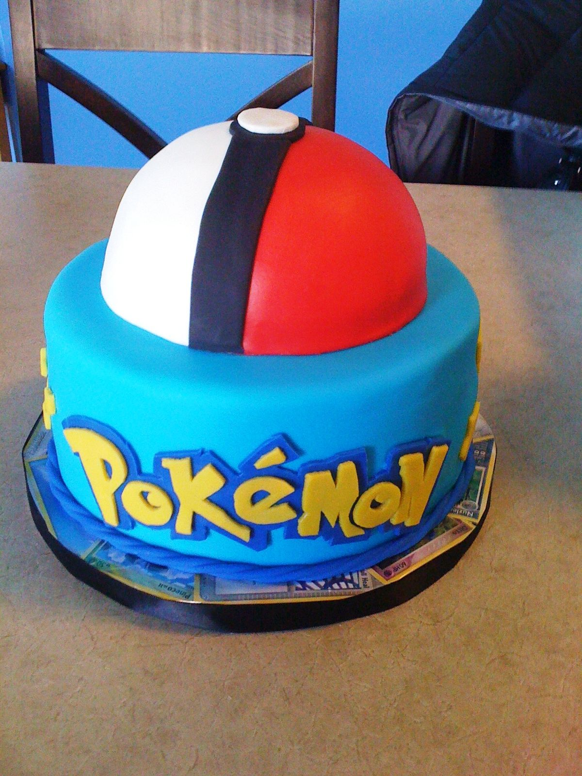 Cute And Simple Pokemon Cake Pokemon Birthday Cake Pokemon