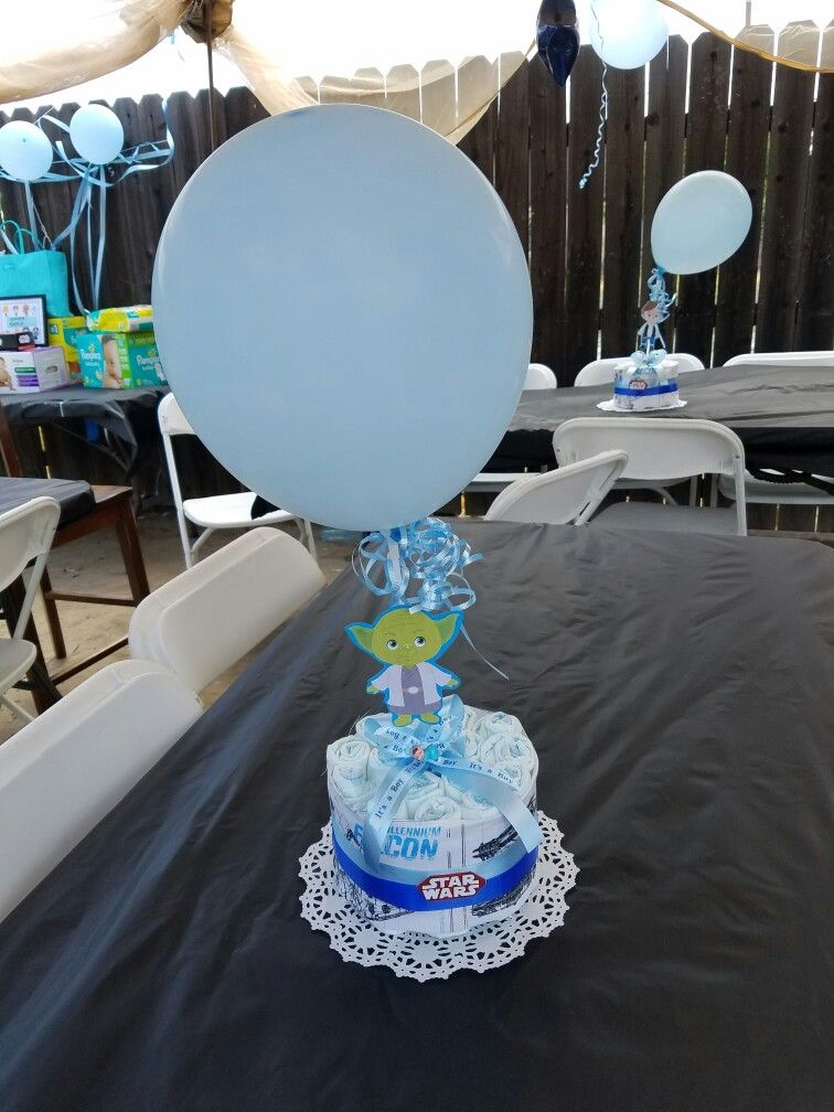 Attractive Starwars Baby Shower Centerpieces