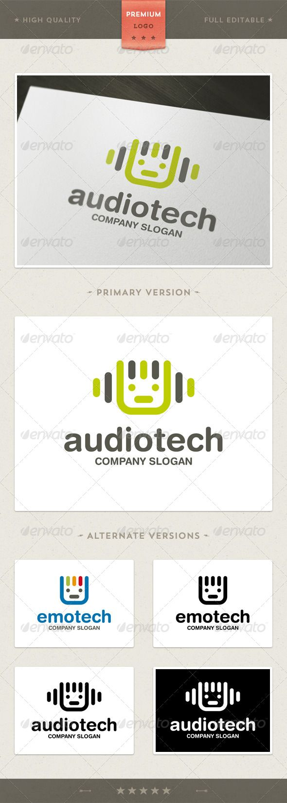 Audiotech a logo that can be used for dj, software and